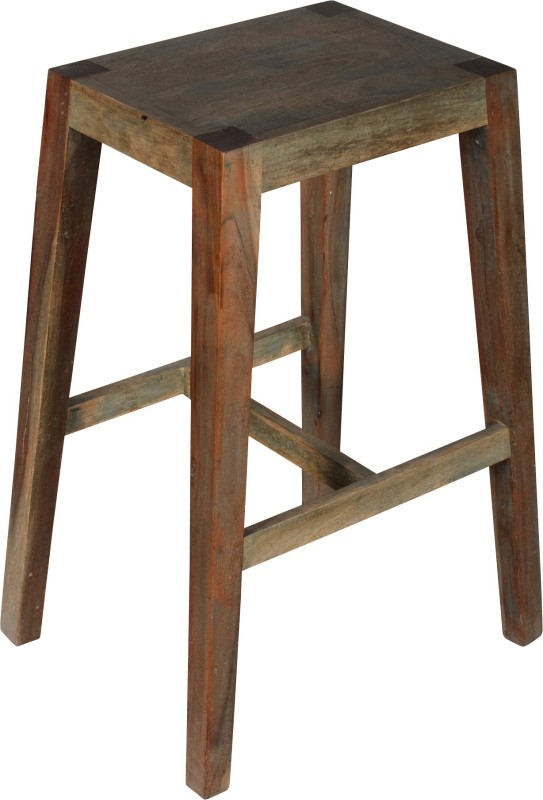 Hastkala Solid Wood Bar Stool(Finish Color - Brown)