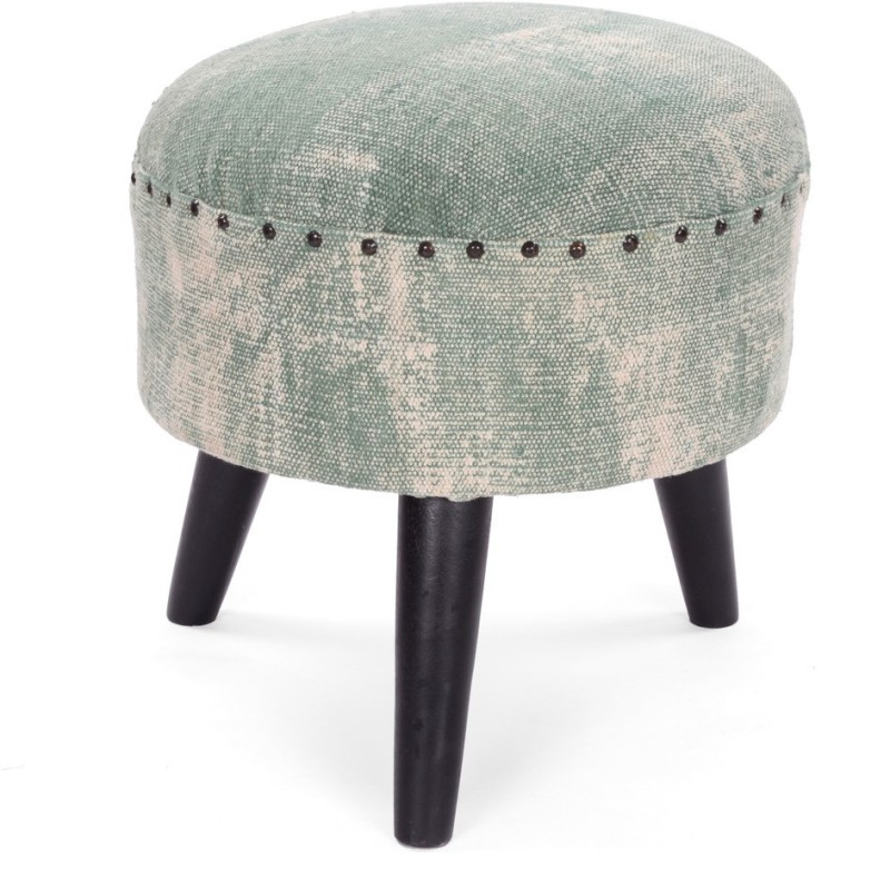 Natural Fibres Export Solid Wood Bar Stool(Finish Color - Green)