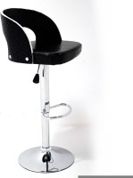 Arena Leatherette Bar Stool(Finish Color - Black)