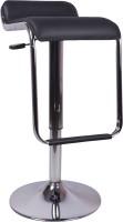 V J Interior Leatherette Bar Stool(Finish Color - Black)