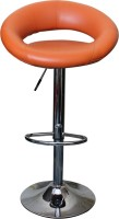 V J Interior Leatherette Bar Stool(Finish Color - Orange)