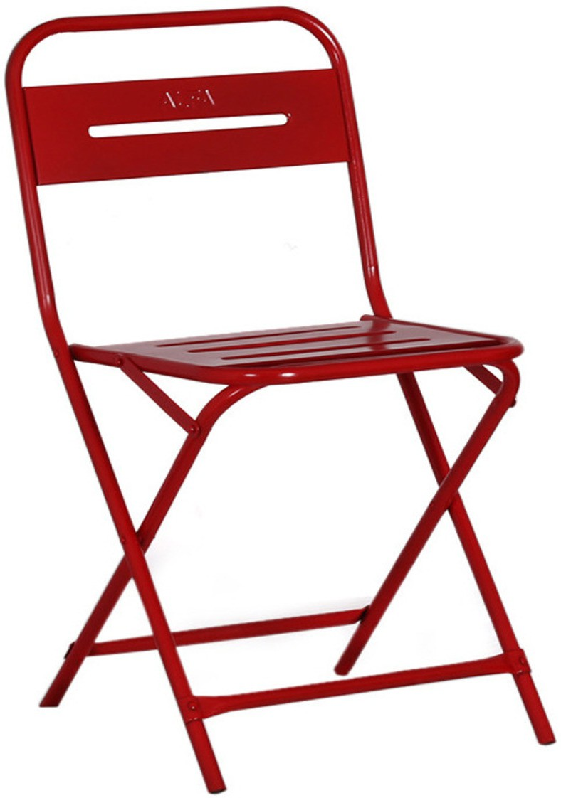 View The Maker's Point Metal Bar Chair(Finish Color - Red) Furniture (The Maker's Point)