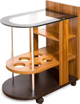Evok Engineered Wood Bar Trolley