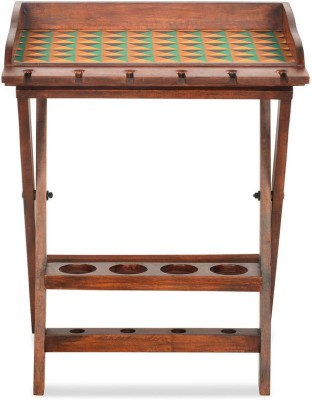 @home by Nilkamal Tryst Solid Wood Bar Trolley(Finish Color - NA)