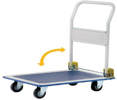 Mystical PT001 Metal Bar Trolley(Finish Color - Black / Blue)