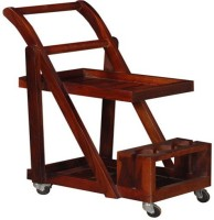 Ringabell Trolley Solid Wood Bar Trolley(Finish Color - Honey Oak)