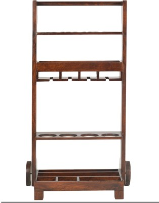@home by Nilkamal Winly Solid Wood Bar Trolley