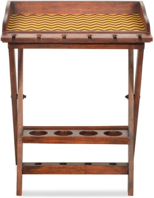 @home by Nilkamal Chevron Solid Wood Bar Trolley(Finish Color - NA)