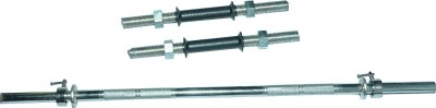 Royal 3ft Straight Rod With 2 Black Handle Weight Lifting Bar