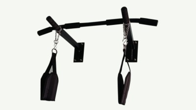 MH JIM EQUIPMENTS Pull Up Bar With Heavy Duty Ab Strap Pull-up Bar