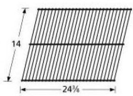 Music City Metals 40901 Grill Cooking Grid