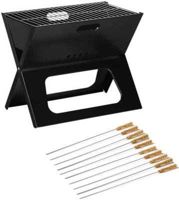 Goodbuy Portable Barbecue Charcoal Grill (10 skewers)