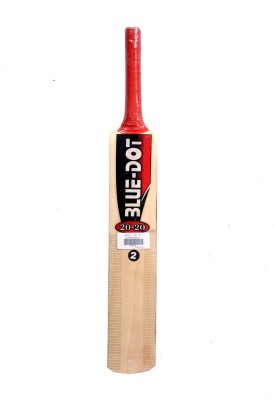 Blue Dot Leather No.2 K.W. Kashmir Willow Cricket  Bat