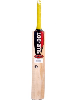 Blue Dot Leather No.3 K.W. Kashmir Willow Cricket  Bat