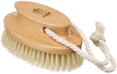 Kent FD11 Pure Beechwood and Pure Bristle Oval Bath and Body Brush