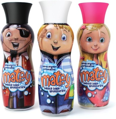 Matey Bubble Bath Adventurers Molly, Max and Pegleg in one Pack