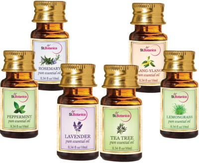 StBotanica Lavender + Lemongrass + Peppermint + Rosemary + Tea Tree + Ylang-Ylang Pure Essential Oil