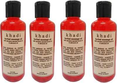 Khadi Herbal Massage oil with alovera sandalwood oil & almond oil