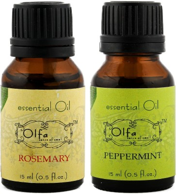 Olfa Rosemary Essential Oil & Peppermint Essential Oil Combo (Pack Of 2) 15ml+15ml