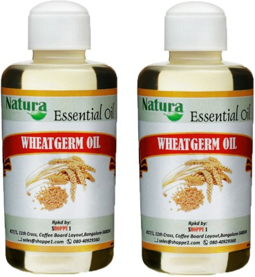 Natura Wheatgerm (Triticum Vulgare) Natural Carrier Oil pack of 2