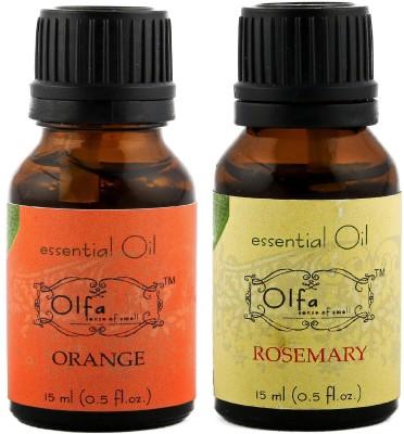 Olfa Orange Essential Oil & Rosemary Essential Oil Combo (Pack Of 2) 15ml+15ml