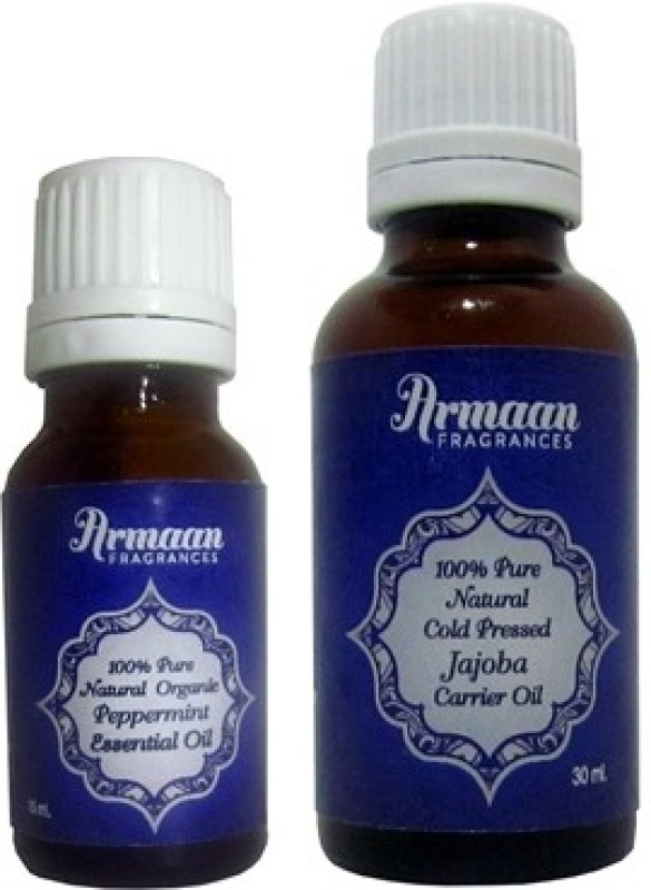 Armaan jojoba carrier oil and peppermint essential oil for skin & Scalp nourishment and keeps the head cool(45 ml)
