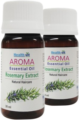 Healthvit Aroma Rosemary Extract Essential Oil For Hair care(Pack Of 2)