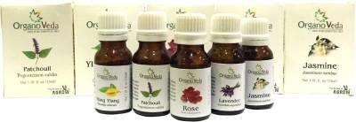 Organo Veda Flower combo: Patchouli + lavender + Ylang Ylang + Jasmine + Rose