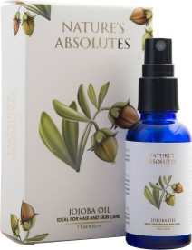 Nature's Absolutes Organic Jojoba Carrier Oil for Hair & Face - 30 ml - 100% Pure & Natural Cold Pressed Unrefined oil(30 ml)