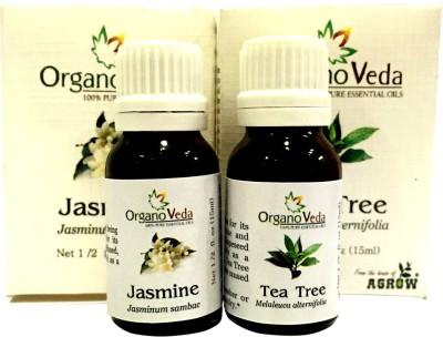Organo Veda Combo of Natural Jasmine & Tea Tree
