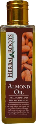 Herbal Roots Pure Almond Oil - Health, Hair and Skin Nourishment(100 ml)