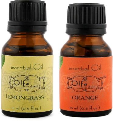 Olfa Lemongrass Essential Oil & Orange Essential Oil Combo(Pack Of 2) 15ml+15ml