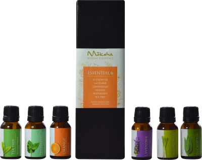 Moksha Essential 6 - Set of Six Top Oils