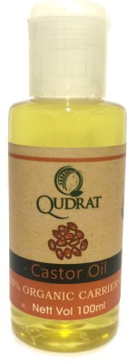 Qudrat Organics & Naturals Coldpressed Castor Oil(100 ml)