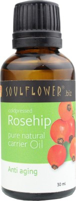 Soulflower Rosehip Carrier Oil - Coldpressed