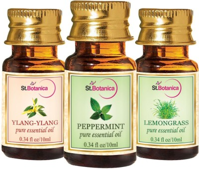 StBotanica Lemongrass + Peppermint + Ylang-Ylang Pure Essential Oil