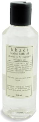 Khadi Natural Bath Oil - Almond Oil & Vitamin-E with Rose Oil