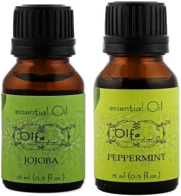 Olfa Jojoba Essential Oil & Peppermint Essential Oil Combo (Pack Of 2) 15ml+15ml