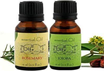 Olfa Rosemary Essential Oil & Jojoba Essential Oil Combo(Pack Of 2) 15ml+15ml