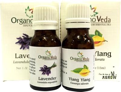 Organo Veda Combo of Natural lavender + Ylang Ylang