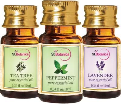 StBotanica Lavender + Peppermint + Tea Tree Pure Essential Oil