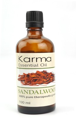 karmakara 100% pure Therapeutic Grade undiluted essential oils in 100 ml Bottles-sandalwood oil