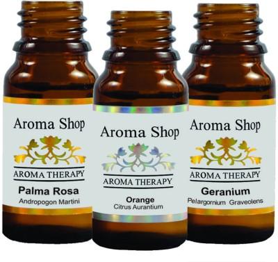 Rk's Aroma Geranium, Palma Rosa & Orange Essential Oil (pack of 3)