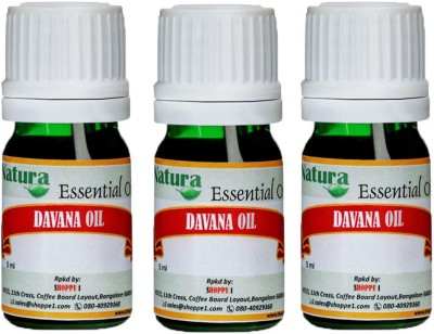 Natura Davana (Artemesia Pallens) Natural Essential Oil pack of 3