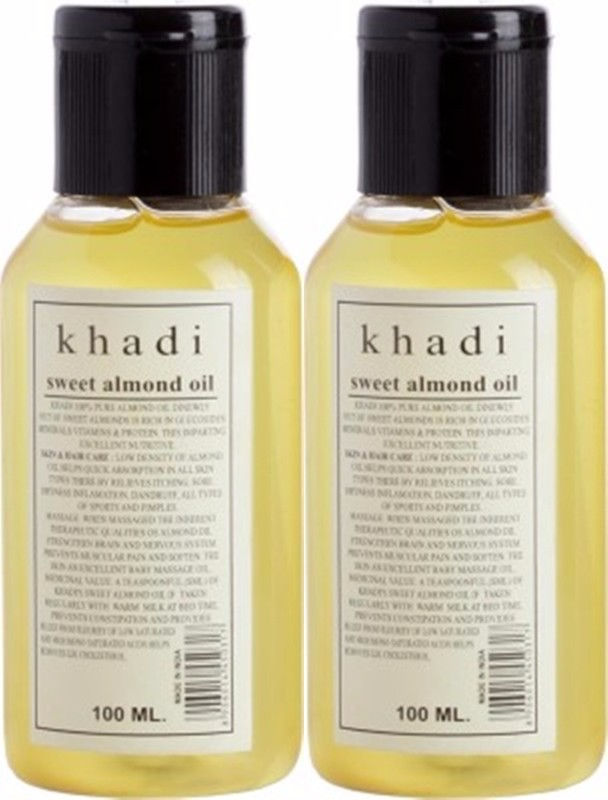 Khadi Natural Sweet Almond Oil (Twin pack)(200 ml)