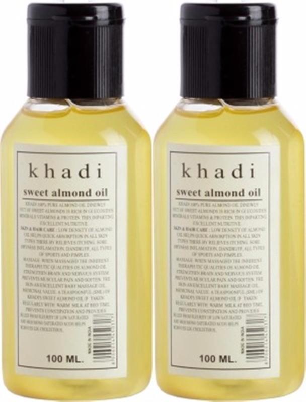 Khadi Natural Sweet Almond Oil (Twin pack)(200 ml)
