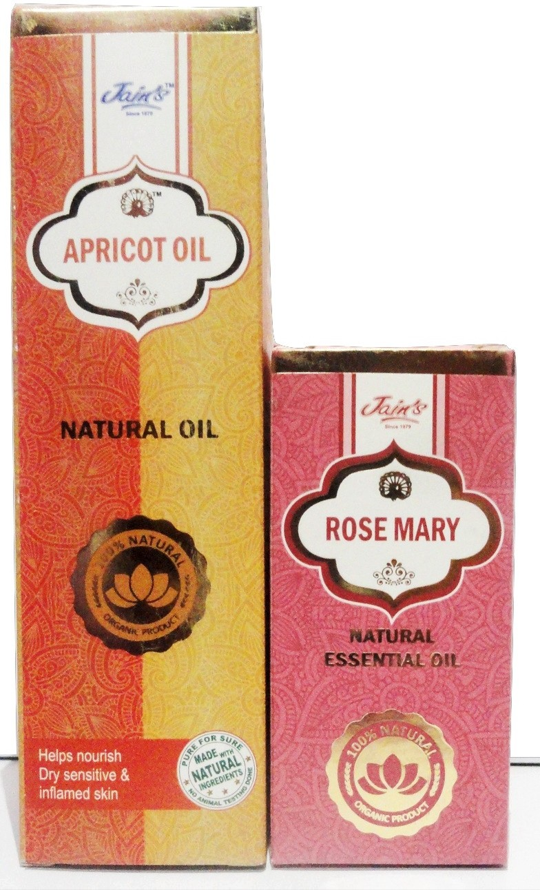 Jains Apricot and Rose Mary Natural Essential(110 ml)