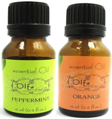 Olfa Peppermint And Orange Essential Oil Combo Pack (15ml + 15ml)