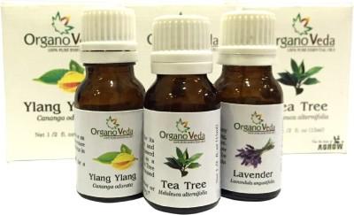 Organo Veda Combo of Natural Tea Tree + lavender + Ylang Ylang