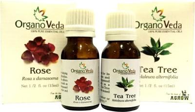 Organo Veda Combo of Natural Rose & Tea Tree